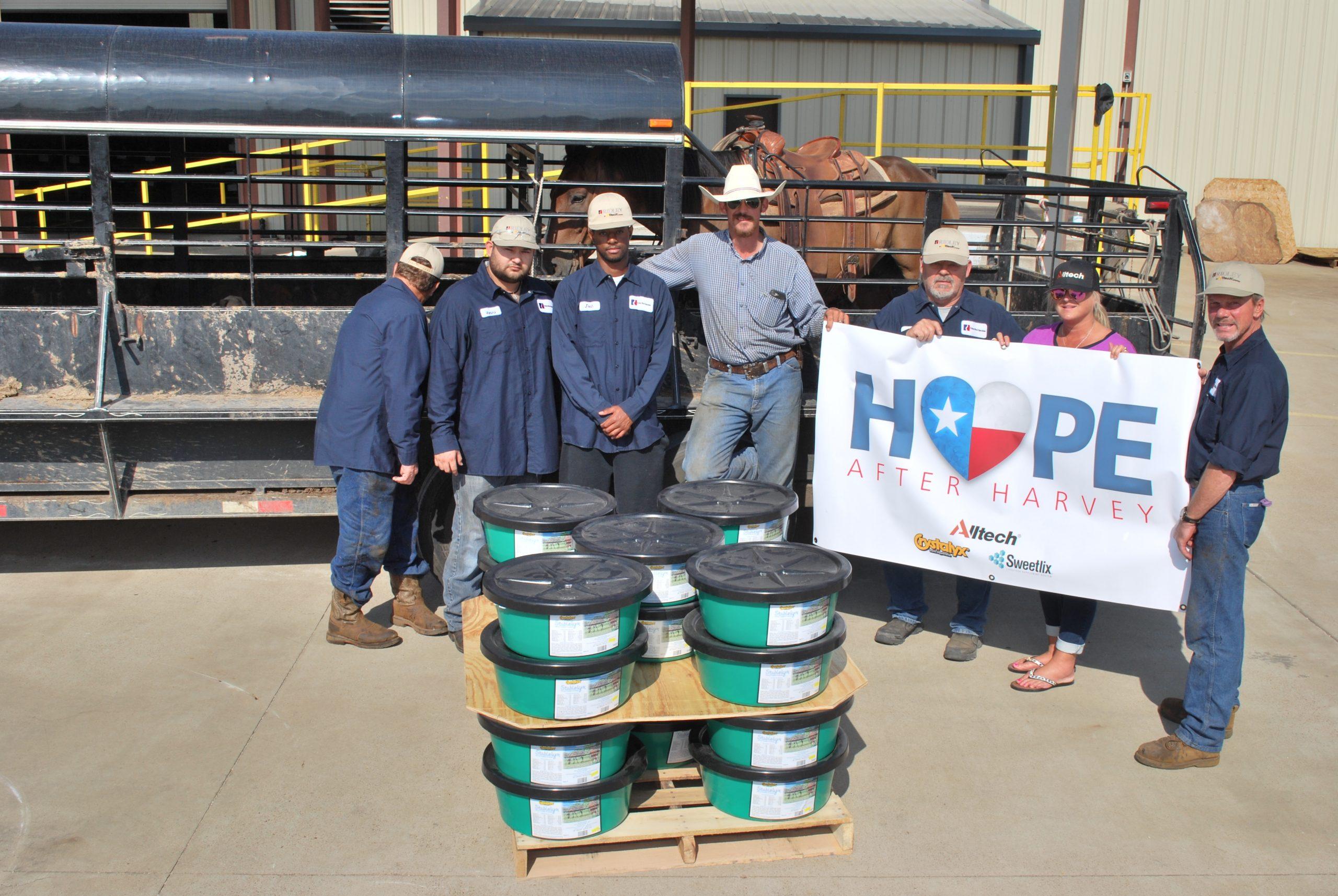 Hope After Harvey effort team from Alltech