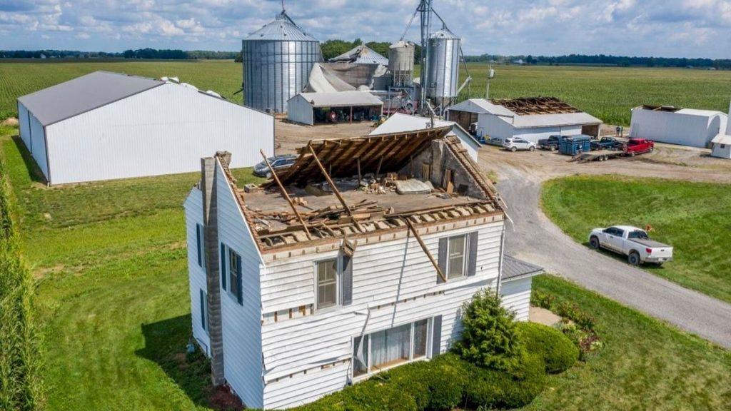 Iowa Derecho devastation