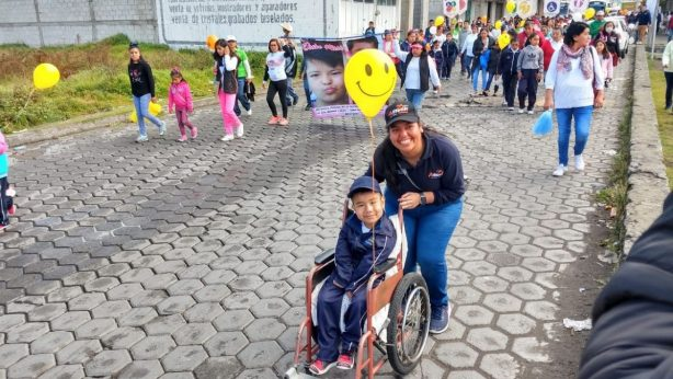 charity walk with children
